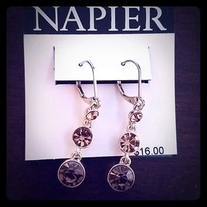 Brand new with tags! Amber gold dangle earrings